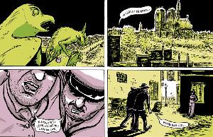Primeras viñetas de 'El salón' . (Imagen: Nick Bertozzi)
