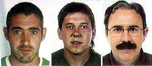 Imagen de los tres etarras detenidos el viernes. (Foto: EFE)