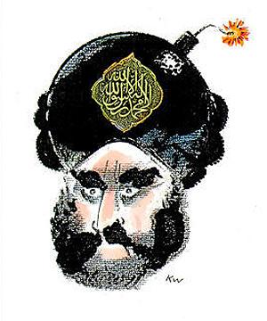 Una de las polémicas caricaturas de Mahoma. (Foto: 'Jyllands-Posten')