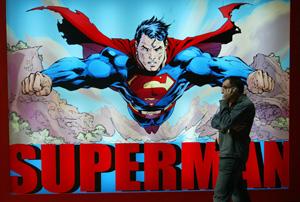 Imagen de Superman en la pasada edición de Salón del Cómic de Barcelona. (Foto: Domènec Umbert)
