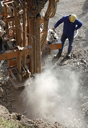 Excavación en Deutschneudorf. (Foto: AP)