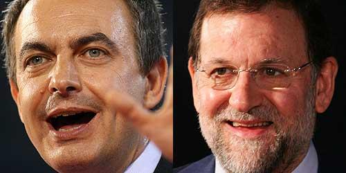 José Luis Rodríguez Zapatero y Mariano Rajoy. (Foto: AFP)