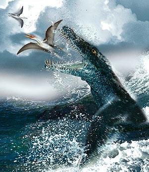 Representación artística del pliosaurio noruego cazando. (Foto: Tor Sponga | Universidad de Oslo)