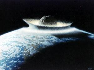 Recreación del posible impacto de un asteroide contra la Tierrra. (Foto: NASA)