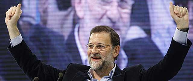 Rajoy en un mítin el miércoles en Las Palmas. (Foto: EFE)