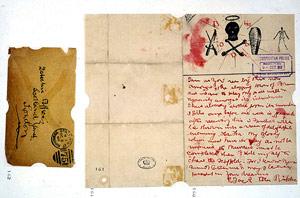 Carta firmada por el asesino en serie. (Foto: EFE)