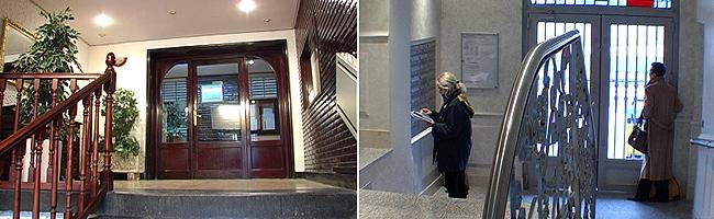 Imágenes de dos portales gemelos, uno original y otro reformado, en el Paseo Vírgen del Puerto de Madrid. (FOTO: ELMUNDO.ES)