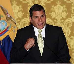 Correa retiró a su embajador en Bogotá antes de enviar tropas a la frontera. (Foto: AP)