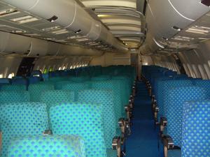 El interior del avión está intacto. (Foto: Eva González de Lucas)