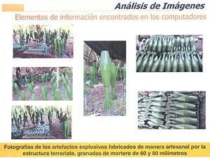 Imágenes del ordenador del guerrillero Raúl Reyes. (Foto: EFE)