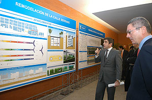 Alberto Ruiz-Gallardón en la presentación del proyecto de remodelación de Serrano. (Foto: munimadrid)