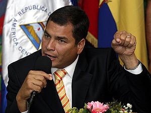 El presidente de Ecuador, Rafael Correa, en Managua (Foto: REUTERS)