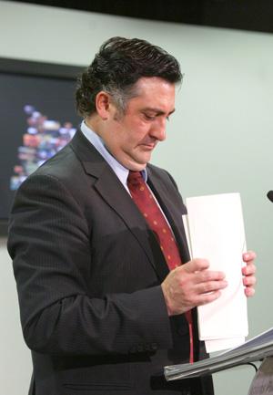 Puigcercós, en su despedida como conseller de Governació. (Foto: Domènec Umbert)