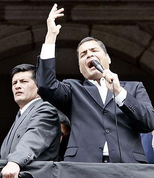 El presidente de Ecuador, Rafael Correa, durante un discurso en Quito. (Foto: EFE)
