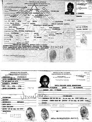 Documentos pertenecientes a dos hijos del líder guerrillero fallecido Raúl Reyes.