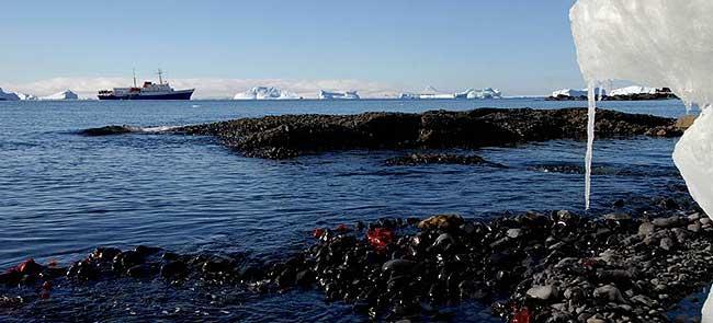 El primer iceberg divisado por la Expedición Inspire 2041 fue a una latitud de 62º.