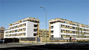 Promociones de viviendas en el barrio de Montecarmelo, al norte de Madrid . (FOTO: Bernardo Díaz)