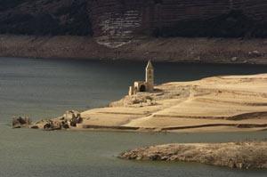 Estado del pantano de Sau (Foto: Efe)
