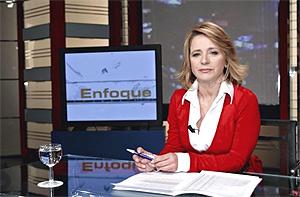 Elena Sánchez, durante su etapa al frente del debate 'Enfoque'. (Foto: RTVE)