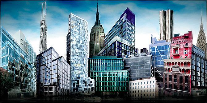 Algunas ilustraciones sobre los nuevos edificios proyectados en Nueva York. (Foto: 'The New York Times')
