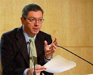 Alberto Ruiz-Gallardón, durante la rueda de prensa. (munimadrid.es)