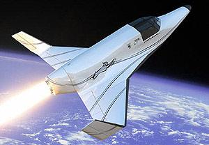 Recreación del 'Linx' en vuelo sobre la Tierra. (Foto: REUTERS)