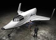 Simulación de una nave 'Linx' en el hangar. (Foto: AP)
