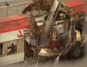 Vista de uno de los trenes atacados el 11-M que aparece en el filme.