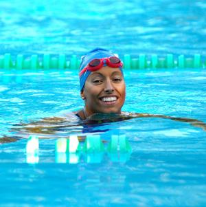 La nadadora paralímpica, Teresa Perales, participa por primera vez en este campeonato (Foto: D. Pérez)