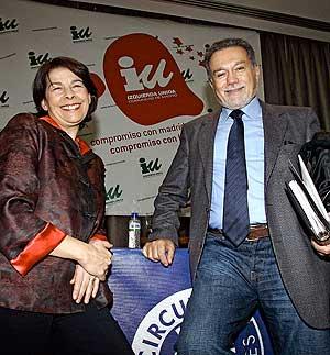 Fernando Marín junto a Inés Sabanés en una imagen de archivo. (Foto: Diego Sinova)