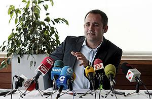 El candidato a la secretaría general del PSPV-PSOE y alcalde de Alaquàs, Jorge Alarte. (Foto: EFE)