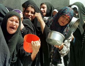 Mujeres irakíes en una cárcel de Bagdad (Foto: Ramzi Haidar).