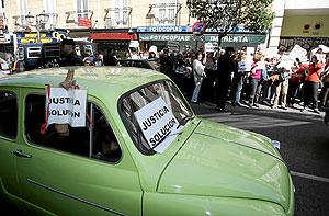 El seiscientos que utilizaron ayer los funcionarios para manifestarse. (Foto: J. VILLANUEVA)