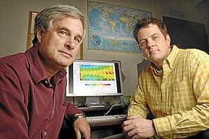 Brian Toom y Michael Mills, autores de la investigación. (Foto: PNAS)