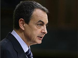 José Luis Rodríguez Zapatero en el debate de investidura. (Foto: Sergio Pérez)