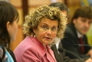 La consellera Marina Geli, durante la rueda de prensa. (Foto: Domènec Umbert)
