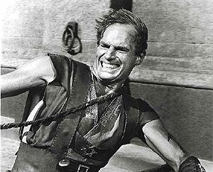 Charlton heston durante la carrera de cuádrigas de 'Ben-Hur'. (Foto: AFP)