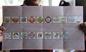 Una de las complicadas papeletas italianas. (Foto: AFP)