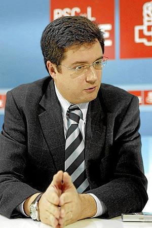 Óscar López, diputado socialista por Segovia.