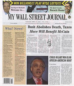 Portada de 'My Wall Street Journal'.