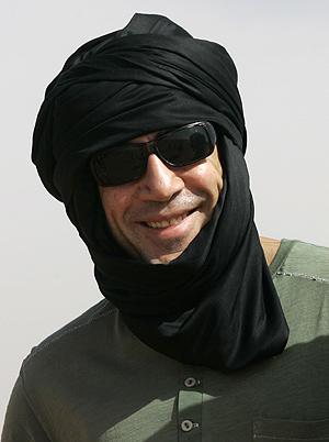Javier Bardem, durante su estancia en los campamentos saharauis. (Foto: Reuters)