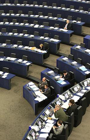 El hemiciclo del Parlamento Europeo de su sede en Estrasburgo durante un pleno. (Foto: AFP)