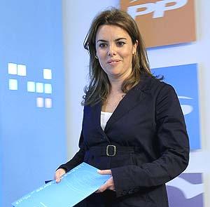 La portavoz del PP en el Congreso, Soraya Sáenz de Santamaría. (Foto: EFE)