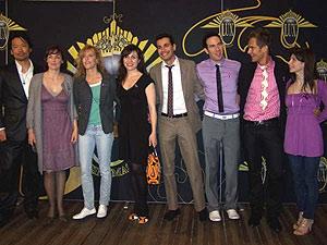 Hiro Masuda, Silvia Marsó, Carmen Conesa, Xenia Sevillano, Sam Dimian, Xoel Pamos, Enric Escudé y Abigail Santamaría. (Foto: D.V.)