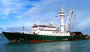 Imagen del pesquero secuestrado en aguas del Oceano Índico. (Foto: EFE)