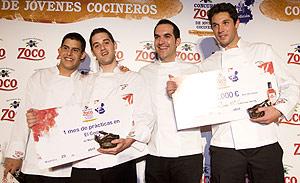Isidoro Rabago, Francisco José Vicente Hernández, Mario Sandoval y José María Camarena, después de que se conocieran los premios. (Foto: D.V.)