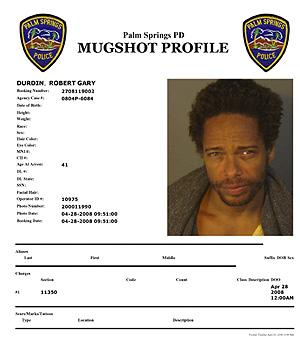 La ficha fotográfica tomada por la Policía de Palm Springs. (Foto: Reuters)