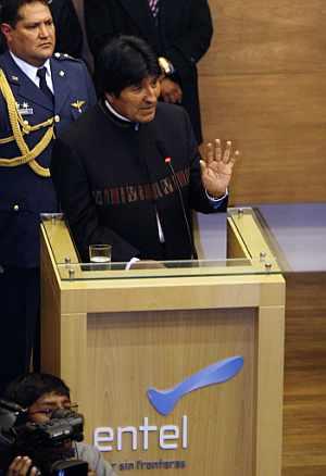 El presidente boliviano, durante un acto. (Foto: EFE)
