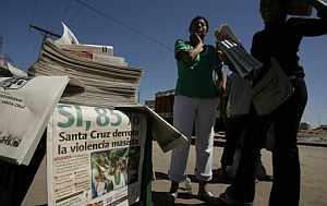 La prensa refleja la polarización del clima político. (Foto: AP)