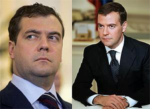 """El """"antes y después"""" de Medvedev."""